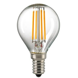 Sigor 2,5 W LED-Filament Kugel Klar E14 2700 K Dim