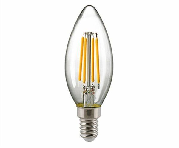 Sigor 2,5W LED-Filament Kerze Klar E14 2700K Dim 6132501
