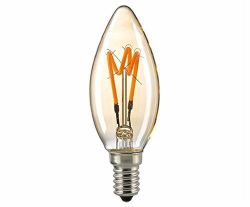 Sigor 4 W LED Curved Filament Kerze Gold E14 2000 K Dim 6125201