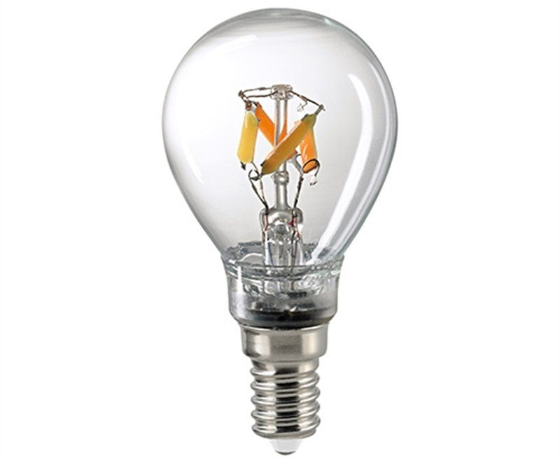 Sigor 4,5 W LED-Filament Kugel Dim to Warm E14 2700–2100 K