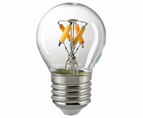 Sigor 4,5 W LED-Filament Kugel Dim to Warm E27 2700–2100 K