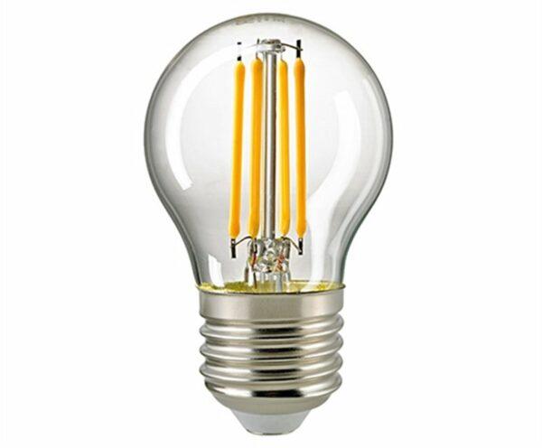 Sigor 4,5 W LED-Filament Kugel Klar E27 2700 K Dim