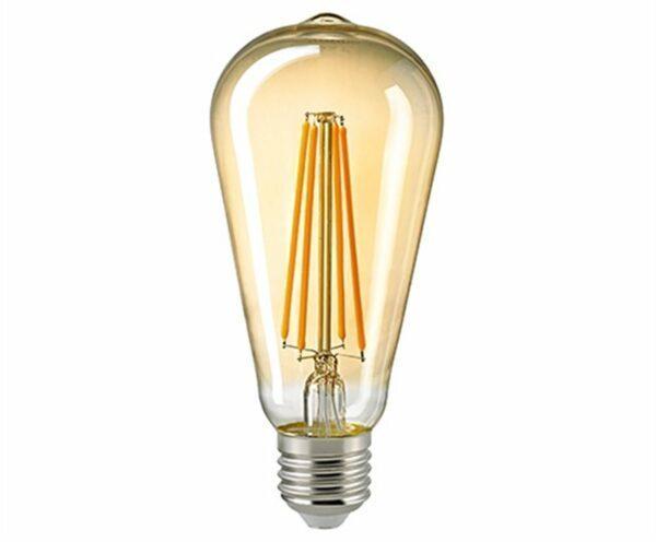 Sigor 4,5 W LED-Filament Rustika Gold E27 2400 K Dim