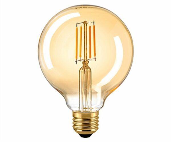 Sigor 7 W LED-Filament Globe 95 mm Gold E27 2400 K Dim 6138901