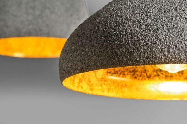 Lupia Licht Pendelleuchte Chapeau 1 Blattgold Detail