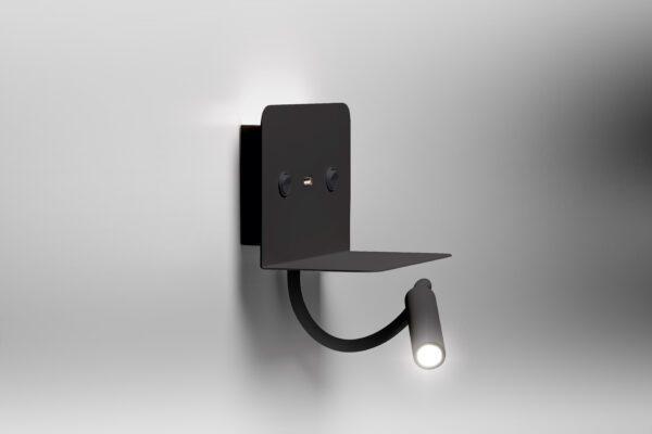 Lupia Licht Wandleuchte Rack Schwarz