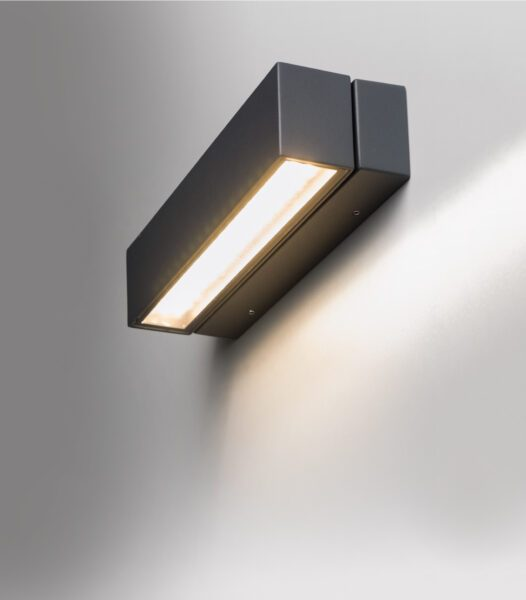 Lupia Licht Wandaußenleuchte Spin mit schwenkbarem Reflektor
