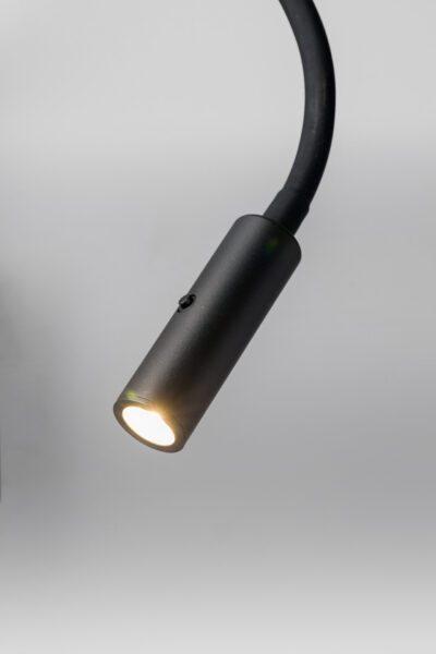 Lupia Licht Wandleuchte Switch Schwarz Detail