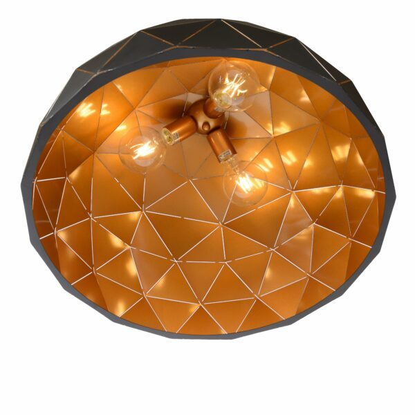 Lucide Pendelleuchte Otona Schwarz Detail Leuchtenschirm