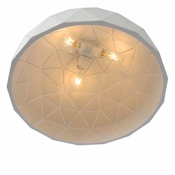 Lucide Pendelleuchte Otona Weiß Detail Leuchtenschirm