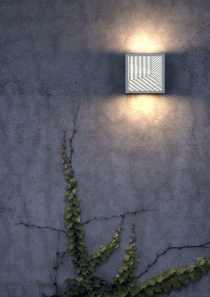 Nordlux Wandaußenleuchte Maze Straight Weiß Milieu