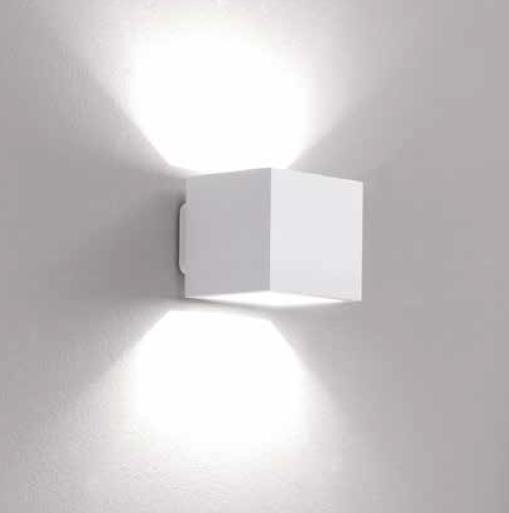 Icone Wand- und Deckenleuchte Cubò Weiß - Lampen & Leuchten