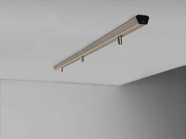 Nordlux Pendelschiene Monte 3 gebürsteter Stahl Milieu Seitenansicht