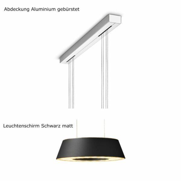 oligo-pendelleuchte-glance-2-flammig-mit-unsichtbarer-höhenverstellung-abdeckung-aluminium-gebürstet-leuchtenschirm-schwarz-matt