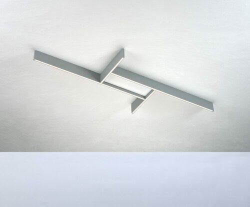Bopp Deckenleuchte Nano Plus Basic Aluminium/Weiß rechteckig