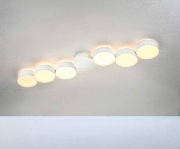 Bopp Deckenleuchte Touch 6-flammig lang Weiß