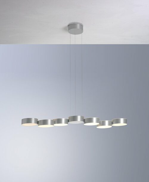 Bopp Pendelleuchte Touch Aluminium geschliffen