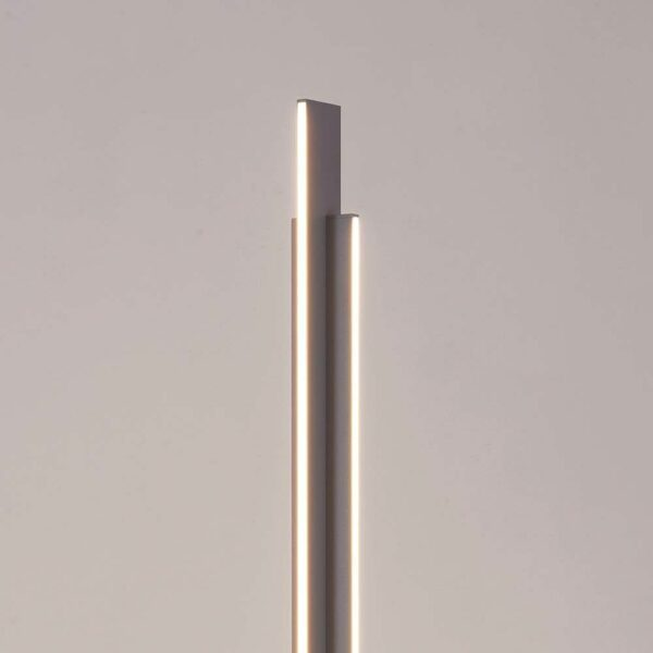 Bopp Stehleuchte Nano aluminiumfarben Leuchtkörper Detailansicht