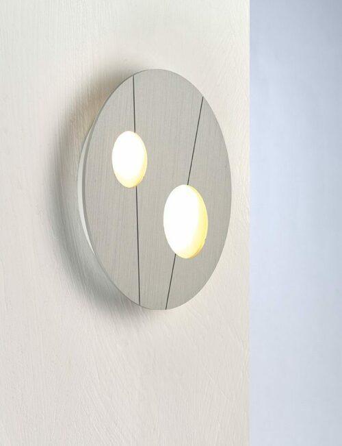 Bopp Wand- und Deckenleuchte Grafico Aluminium eloxiert 2-flammig