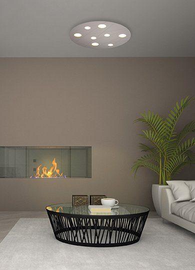Bopp Wand- und Deckenleuchte Grafico Aluminium eloxiert 8-flammig