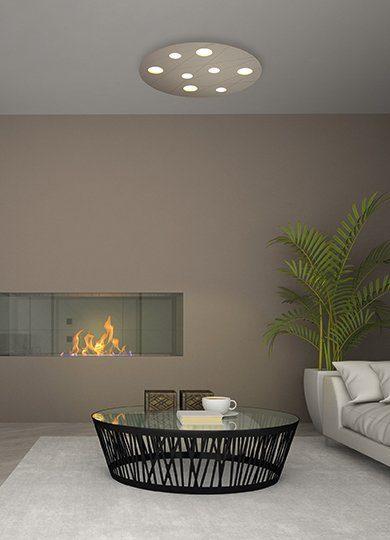 Bopp Wand- und Deckenleuchte Grafico Taupe eloxiert 8-flammig Milieu