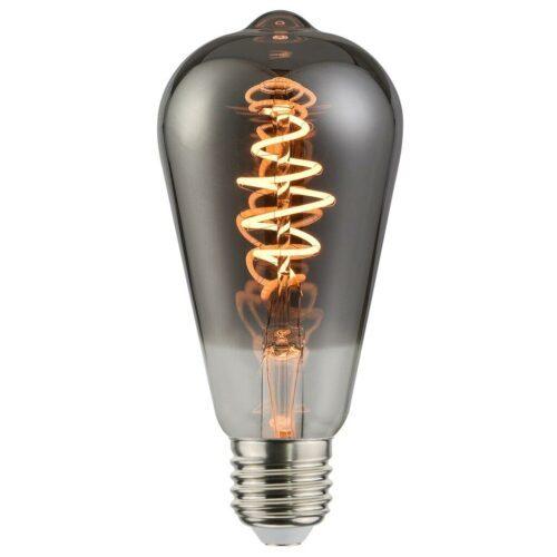 Nordlux LED-Filament Edison-Form, E27, 5 W, Rauch, dimmbar / ersetzt 25 W - Innenleuchten