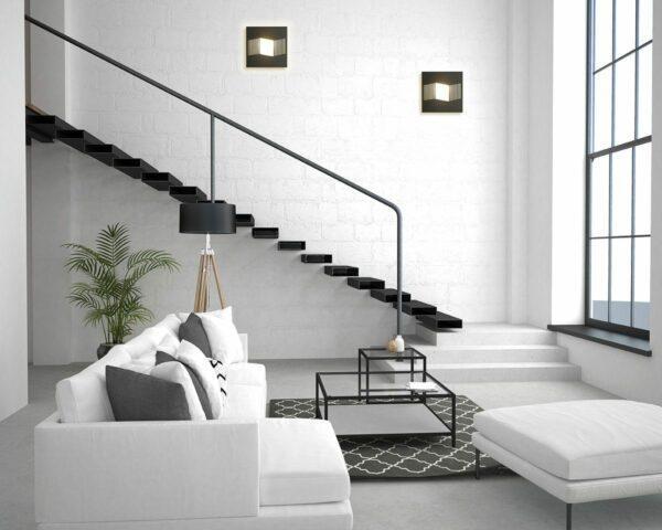Bopp Wand- und Deckenleuchte Steps Comfort Anthrazit 1-flammig Milieu