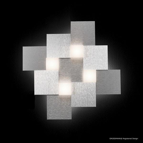 Grossmann Deckenleuchte Creo 4-flammig quadratisch Aluminium