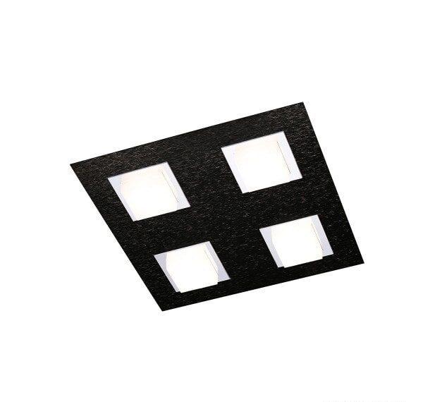 Grossmann Wand- und Deckenleuchte Basic 4-flammig Schwarz