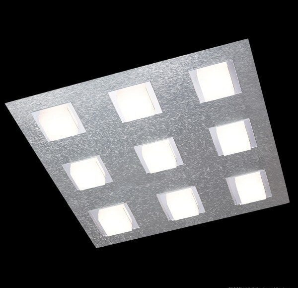 Grossmann Wand- und Deckenleuchte Basic 9-flammig Aluminium