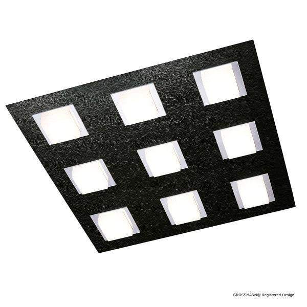 Grossmann Wand- und Deckenleuchte Basic 9-flammig Schwarz