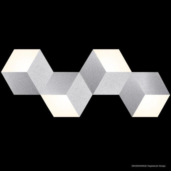 Grossmann Wand- und Deckenleuchte Geo Aluminium