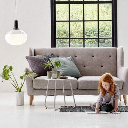 Pendelleuchte in einem Wohnzimmer