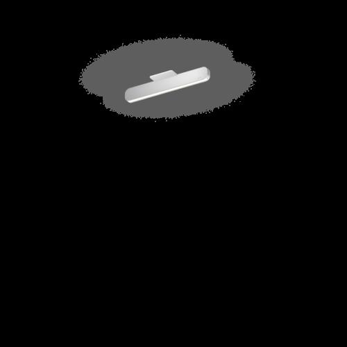 Occhio Deckenleuchte Mito Linear Alto 40 up Silber matt