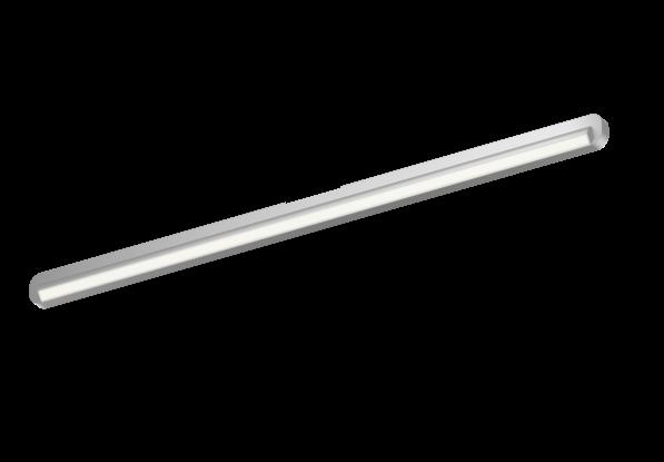 Occhio Deckenleuchte Mito alto linear side 100 up Silber matt