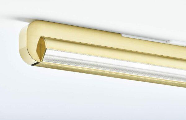 Occhio Deckenleuchte Mito alto linear side 40 up Bronze Detail Leuchtenschirm