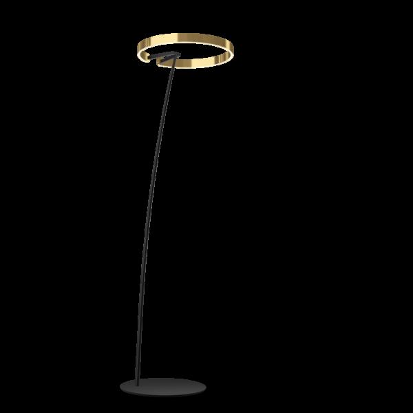 Occhio Stehleuchte Mito Raggio Schwarz matt/Bronze