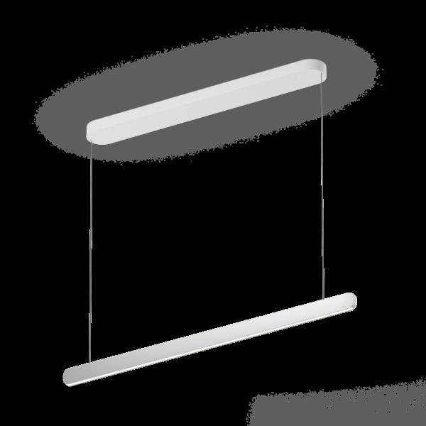 Occhio Pendelleuchte Mito linear volo 100 variable up Silber matt