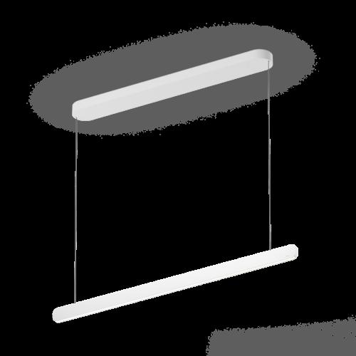 Occhio Pendelleuchte Mito linear volo 100 variable up Weiß matt