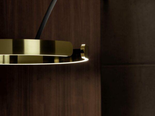 Occhio Stehleuchte Mito Largo Schwarz matt/Bronze Detail Up-Down-Fading