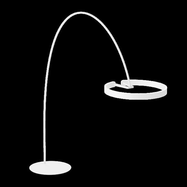 Occhio Stehleuchte Mito Largo Weiß matt/Weiß matt