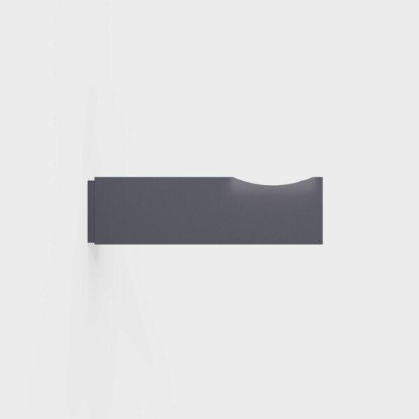IP44.de Wandhalterung Shot Hook Deep Black, Seitenansicht