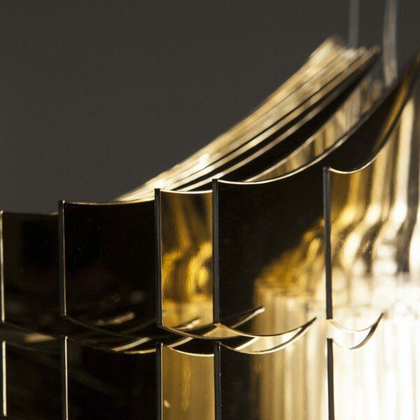 Slamp Pendelleuchte Aria Small Gold Detail Leuchtenschirm