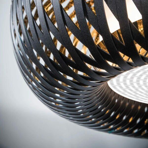 Slamp Pendelleuchte Kalatos Schwarz/Gold Detail Leuchtenschirm