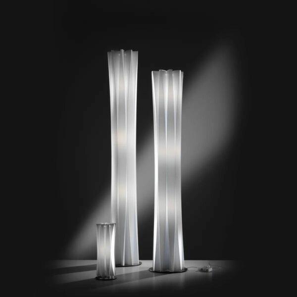 Slamp Tisch- und Stehleuchte Bach Weiß Leuchtenfamilie