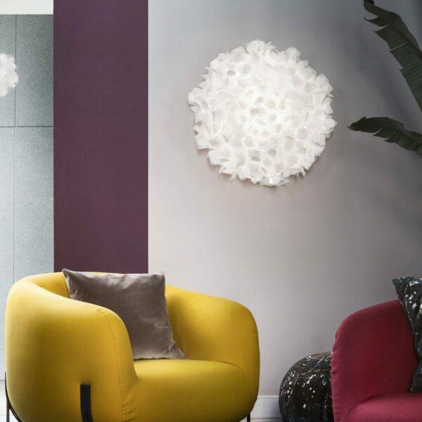 Slamp Wand- und Deckenleuchte Clizia Large Weiß Milieu