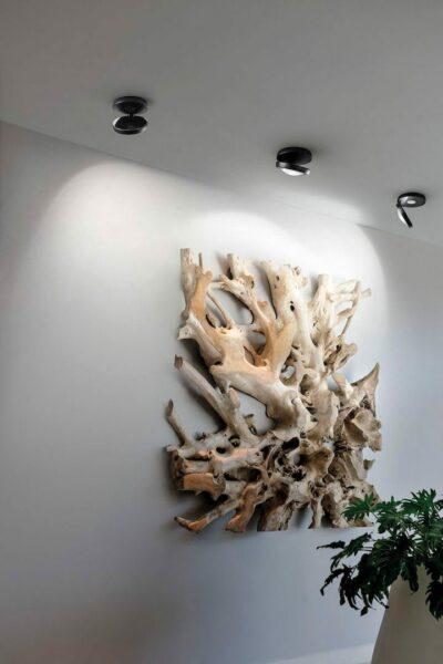 Studio Italia Design Deckenleuchte Nautilus Mattschwarz Milieu
