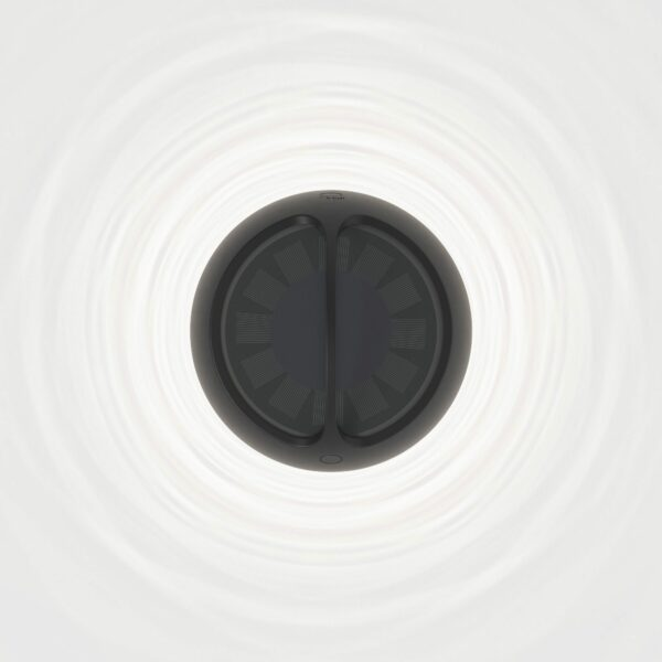 IP44.de Solar-Akkuleuchte Aqu M Jet Black Solarpanel