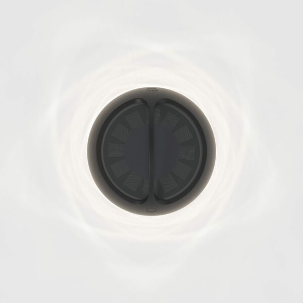 IP44.de Solar-Akkuleuchte Aqu S Jet Black Solarpaneel