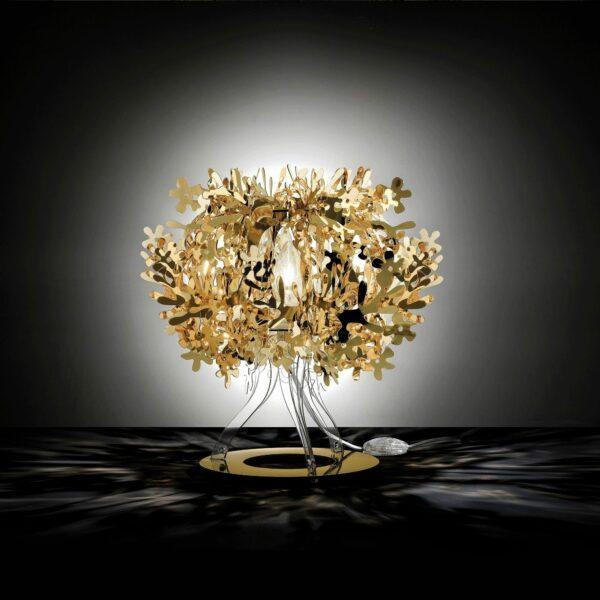 Slamp Tischleuchte Fiorellina Gold Milieu